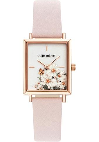 Julie Julsen Quarzuhr »SQUARE DAISY ROSÉ LIGHT PINK, JJW102RGL-2« kaufen