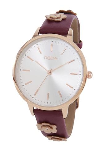 Armbanduhr mit applizierten Blüten kaufen