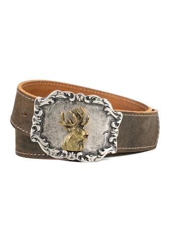 Der Trachtler Ledergürtel »Hias«, mit trendiger Hirschmotiv-Schließe kaufen
