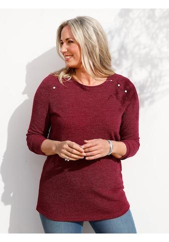 MIAMODA Langarmshirt, mit dekorativen Nieten kaufen