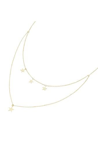 Luigi Merano Collier »4 Sterne im Mittelteil, Gold 375« kaufen