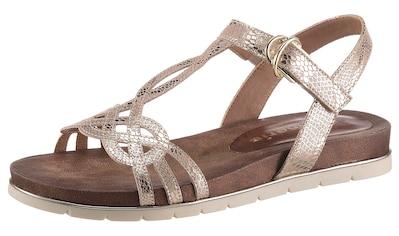 Tamaris Sandale »LOCUST«, im Metallic-Look kaufen