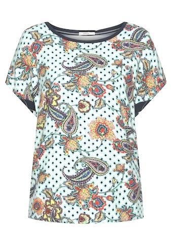 Cecil Blusenshirt, mit farbenfrohem Paisley-Muster und seitlichem Galonstreifen kaufen