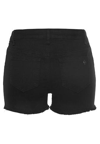 Tamaris Shorts, mit Fransensaum kaufen