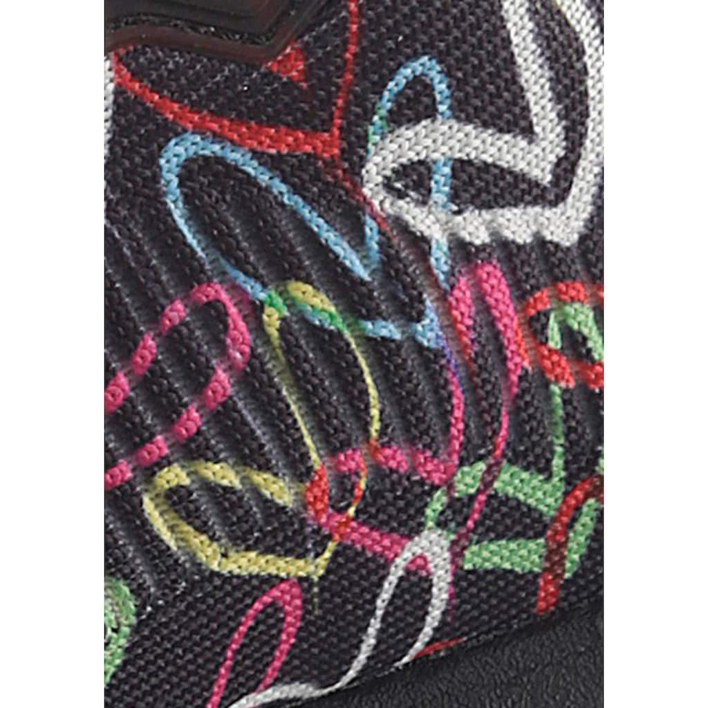 Skechers Sneaker »BOBS SQUAD«, mit Allover-Herzchenprint