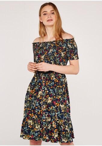 Apricot Druckkleid »Botanical Spray Smock Dress«, mit Bardot-Ausschnitt kaufen
