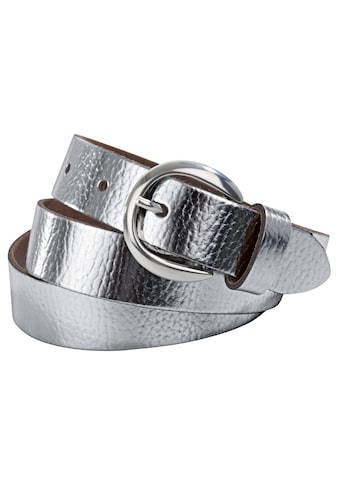 heine Ledergürtel, im Metallic-Look kaufen