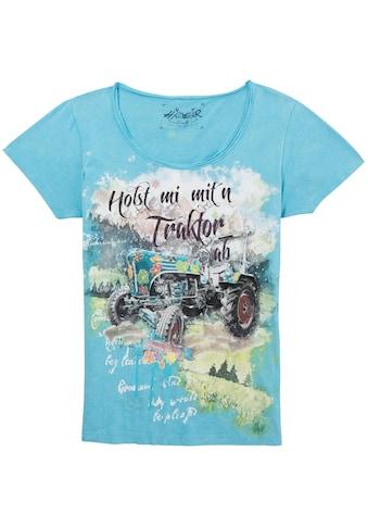 Hangowear Trachtenshirt »Syra«, mit Strasssteinen im Print kaufen