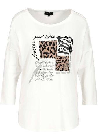 Monari 3/4-Arm-Shirt, mit funkelnden Strass - Details, Lackdruck, Glitter und Leo - Print im Animal - Look kaufen