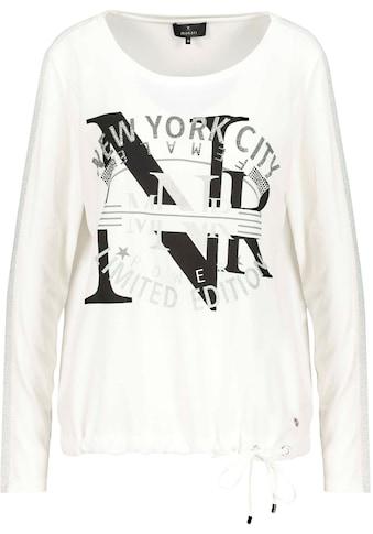 Monari Shirtbluse, Mit glitzerndem Lurex - Streifen und Glitter- und Strassschrift kaufen