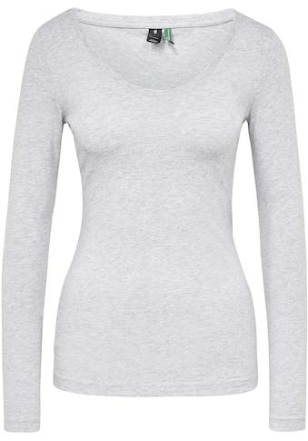 G-Star RAW Langarmshirt »Base Top r l/s«, aus weichen, atmungsaktiven Jersey im Bio-Baumwolle Mix kaufen