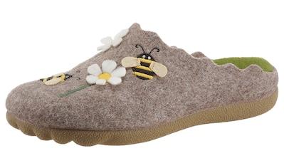 Maybe Pantoffel, mit Blumen- und Bienchen-Stickerei kaufen