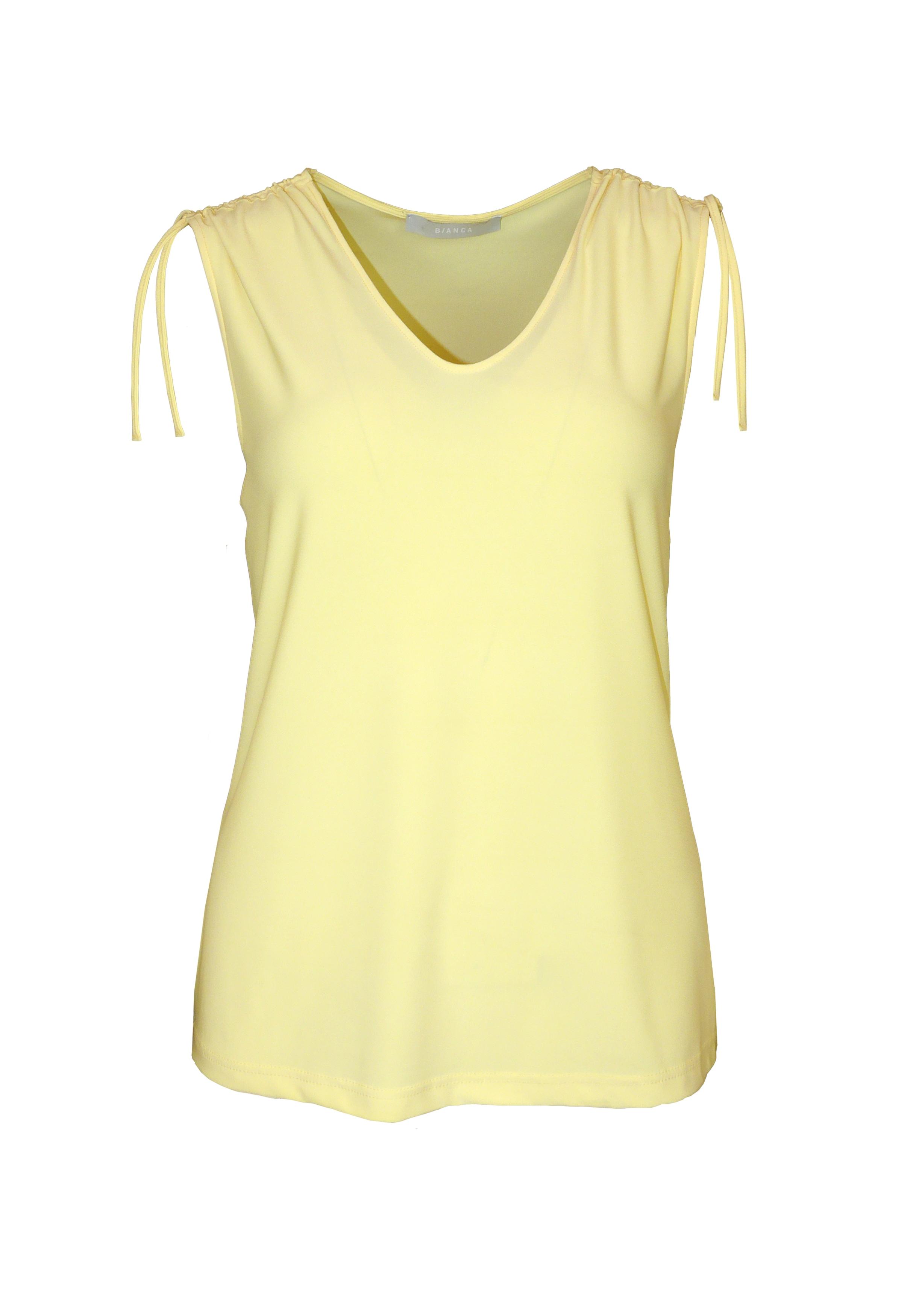 bianca -  Kurzarmshirt TANY, mit cooler Raffung im Schulterbereich