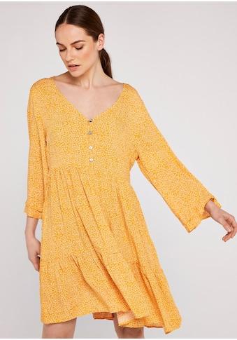 Apricot Druckkleid »Micro Ditsy Bell Sleeve Dress«, mit Knopfleiste kaufen