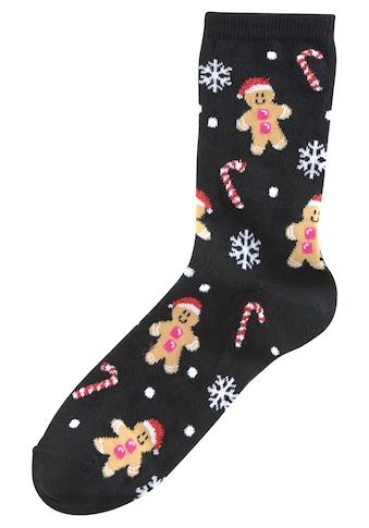 Sympatico Socken, (3 Paar), mit lustigen Weihnachtsmotiven kaufen