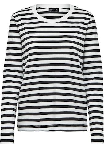 SELECTED FEMME Rundhalsshirt »SLFSTANDARD«, aus Bio-Baumwolle kaufen