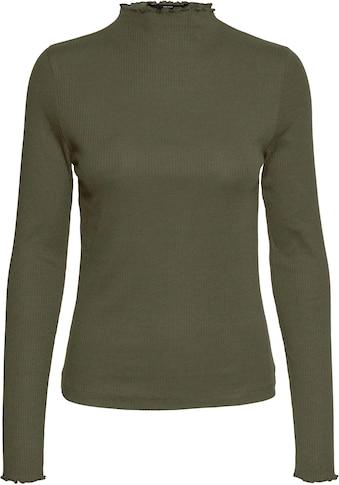 Vero Moda Langarmshirt »VMVIO L/S HIGH NECK BLOUSE« kaufen