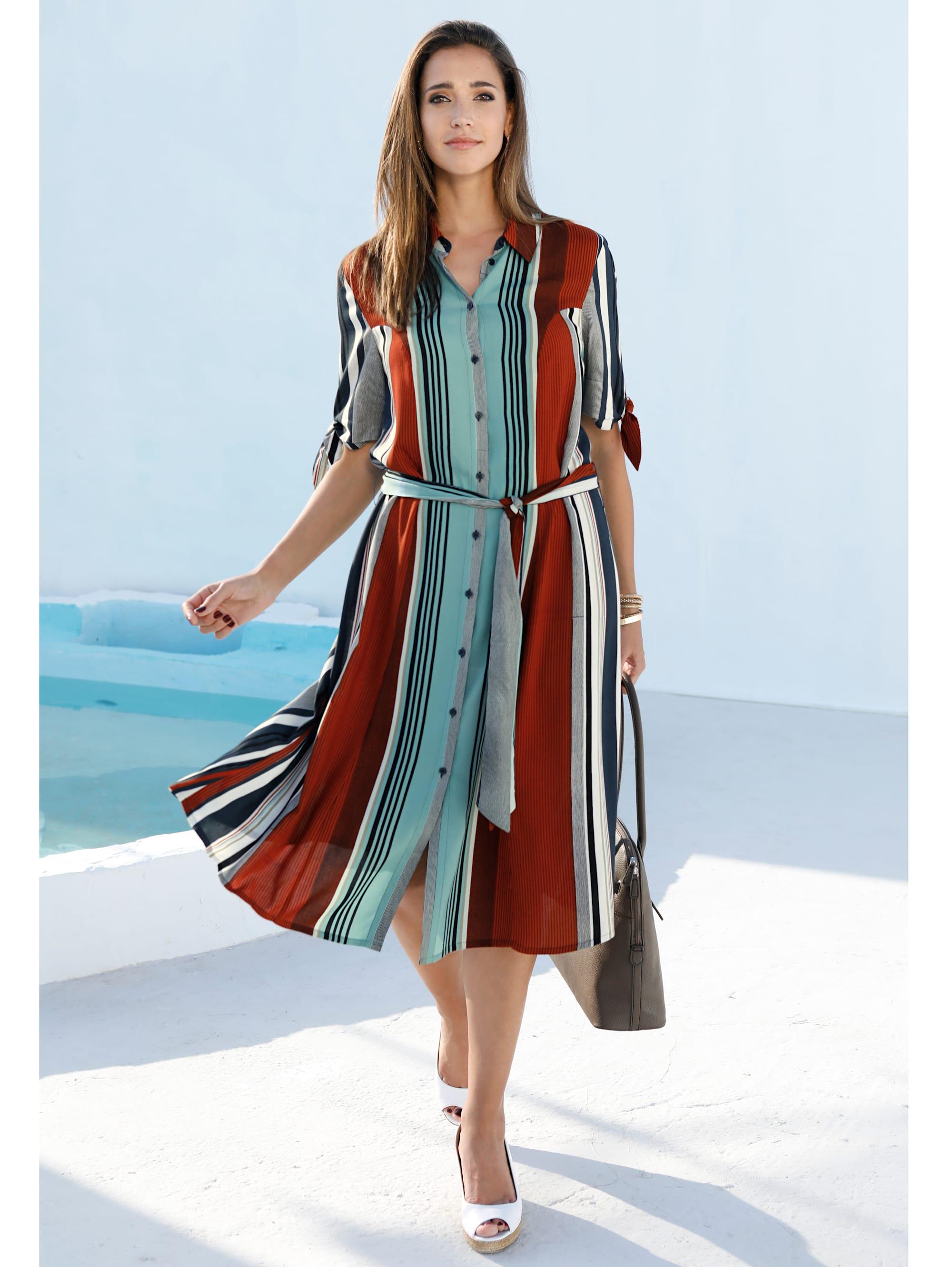 miamoda -  Kleid mit Streifendruck