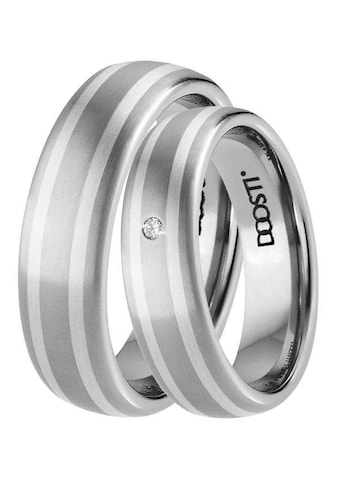 DOOSTI Trauring »TS-02-D, TS-02-H, SILVER WAY«, Made in Germany - wahlweise mit oder ohne Zirkonia kaufen