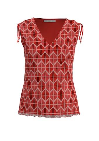 bianca Kurzarmshirt »TANY«, aus Mesh im Retro-Print mit Raff-Details kaufen