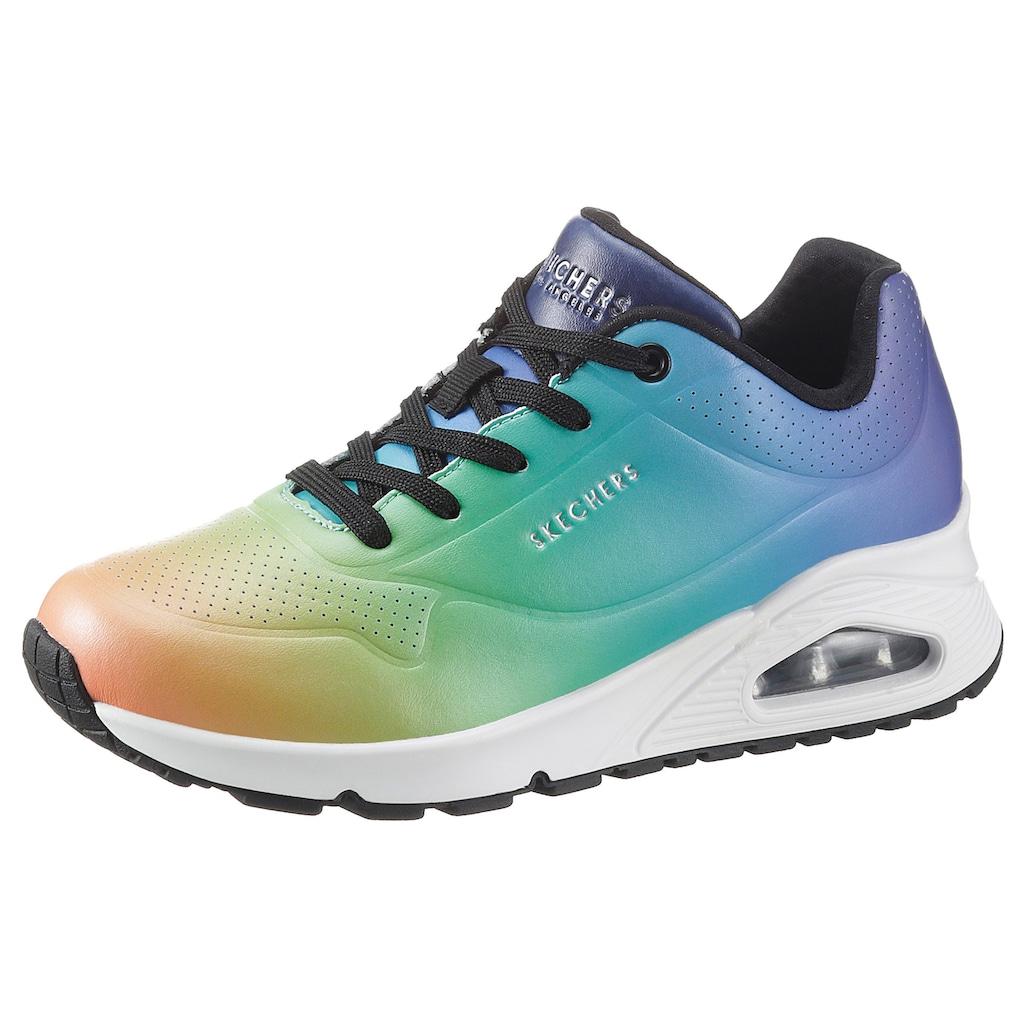 Skechers Wedgesneaker »Uno«, mit trendigem Farbverlauf