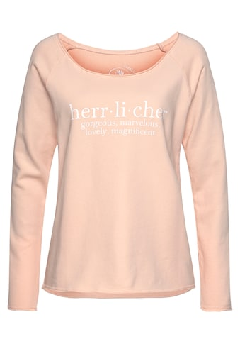 Herrlicher Sweatshirt »FREYJA«, mit Logo-Statementprint kaufen