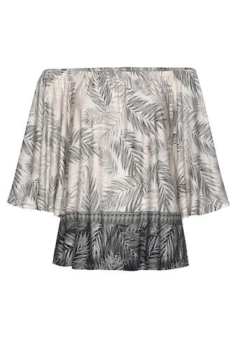 Buffalo Strandshirt, mit Blätterdruck kaufen