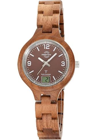 MASTER TIME Funkuhr »Specialist Wood, MTLW-10750-81W« kaufen