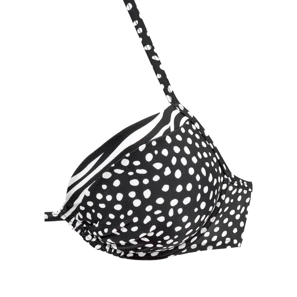 LASCANA Push-Up-Bikini-Top »Safari«
