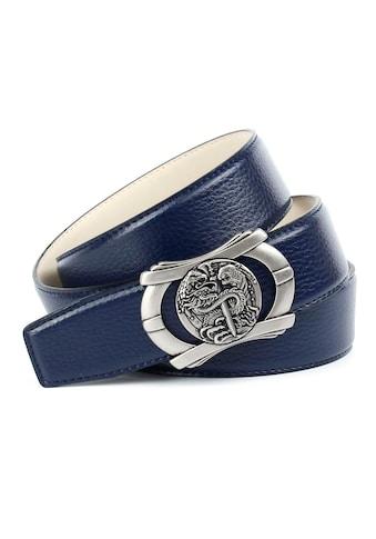 """Anthoni Crown Ledergürtel, Eindrucksvoll mit Schließe """"Fabelwesen"""" kaufen"""