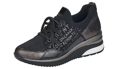 Remonte Wedgesneaker, mit schönen Metallic-Besätzen kaufen