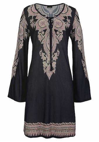 LASCANA Jerseykleid, mit Bordürendruck kaufen
