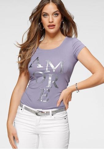 Melrose Rundhalsshirt, mit Folien-Print - NEUE KOLLEKTION kaufen
