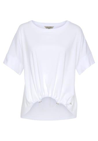 Herrlicher T-Shirt »FIA«, mit regulierbarem Gummizug-Saumabschluss kaufen