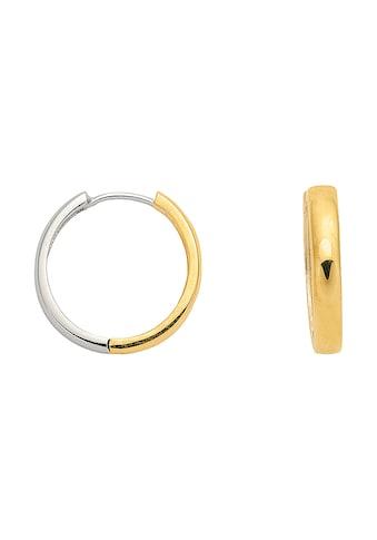 Adelia´s Paar Creolen »585 Weißgold Ohrringe / Creolen Ø 18,5 mm« kaufen