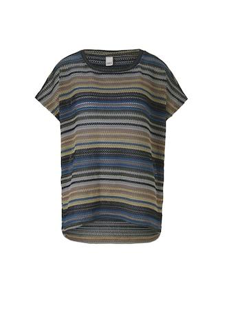 Rundhalsshirt in leicht tranparenter Strickoptik kaufen
