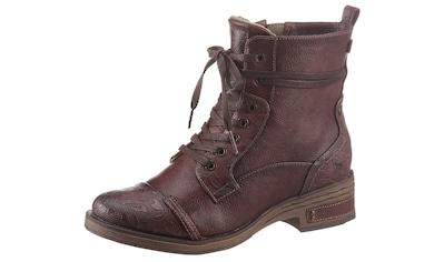 Mustang Shoes Schnürstiefelette, mit schaftumspielender Schnürung kaufen