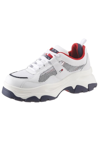 TOMMY JEANS Plateausneaker »RECYCLED MESH FLATFORM SHOE« kaufen