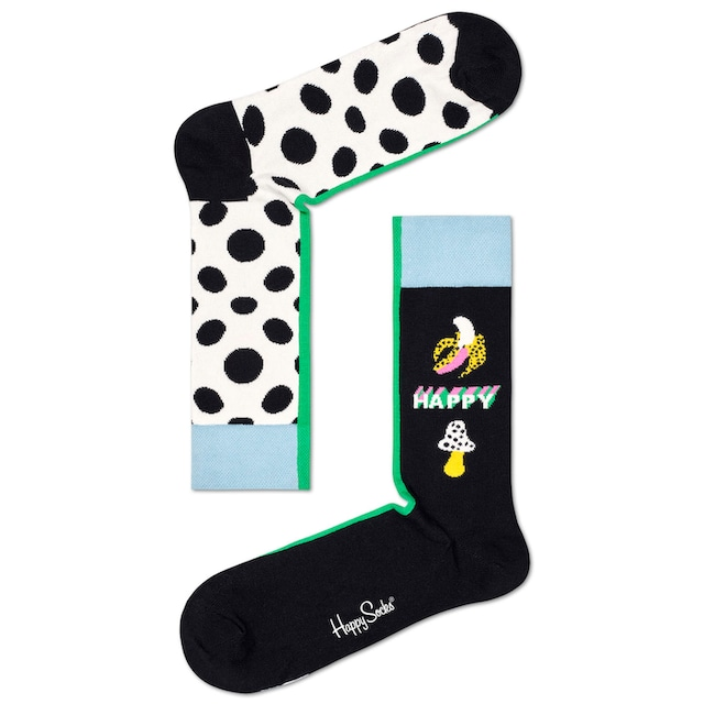 Happy Socks Socken Half/Half Big Dot