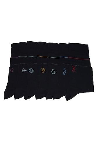 TOM TAILOR Basicsocken (Box, Für jeden Wochentag eine Socke mit individuellem Emoji) kaufen