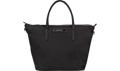 Calvin Klein Shopper »SHOPPER W/ZIP SM«, aus weichem Material kaufen