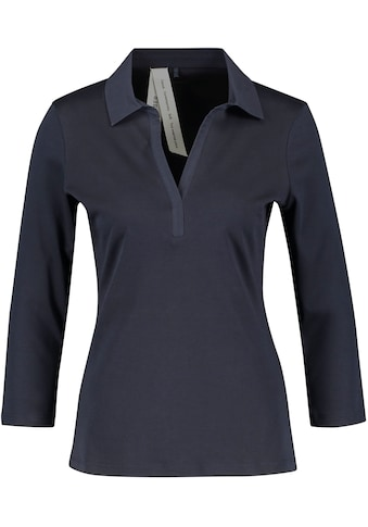 GERRY WEBER 3/4-Arm-Shirt, mit Polokragen aus Webstoff kaufen