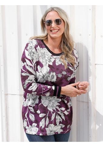 MIAMODA Langarmshirt, mit floralem Muster kaufen