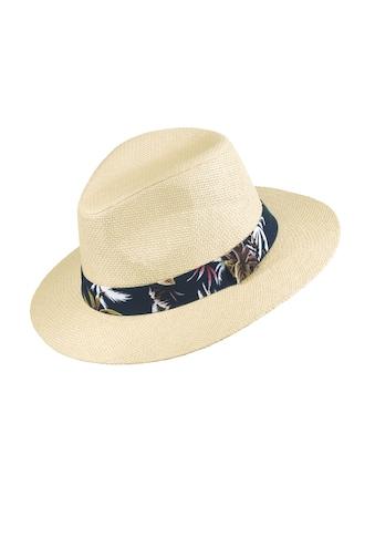 Chaplino Strohhut, mit farbigem Hutband kaufen