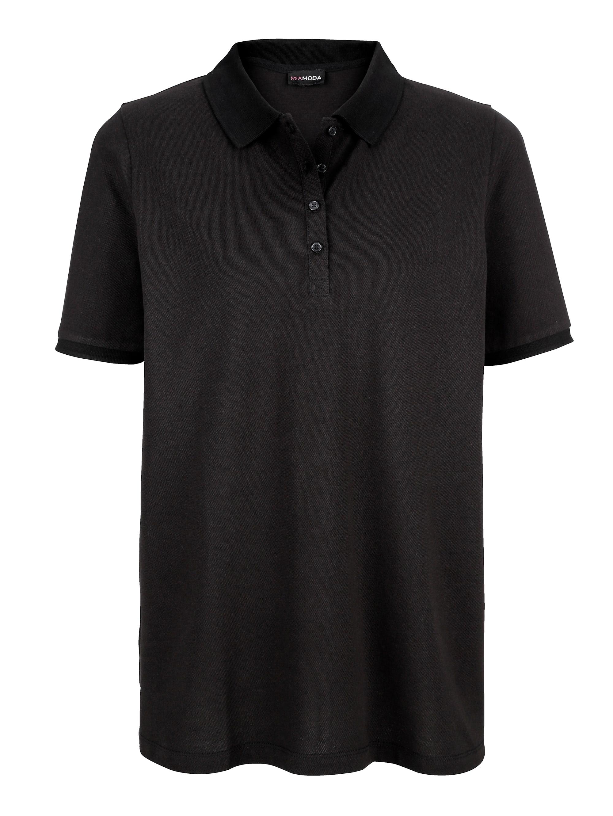miamoda -  Poloshirt, aus leicht strukturiertem Baumwollmaterial