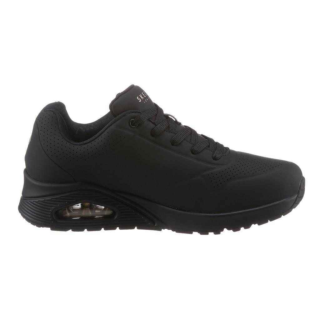 Skechers Wedgesneaker »Uno - Stand on Air«, mit feiner Perforation