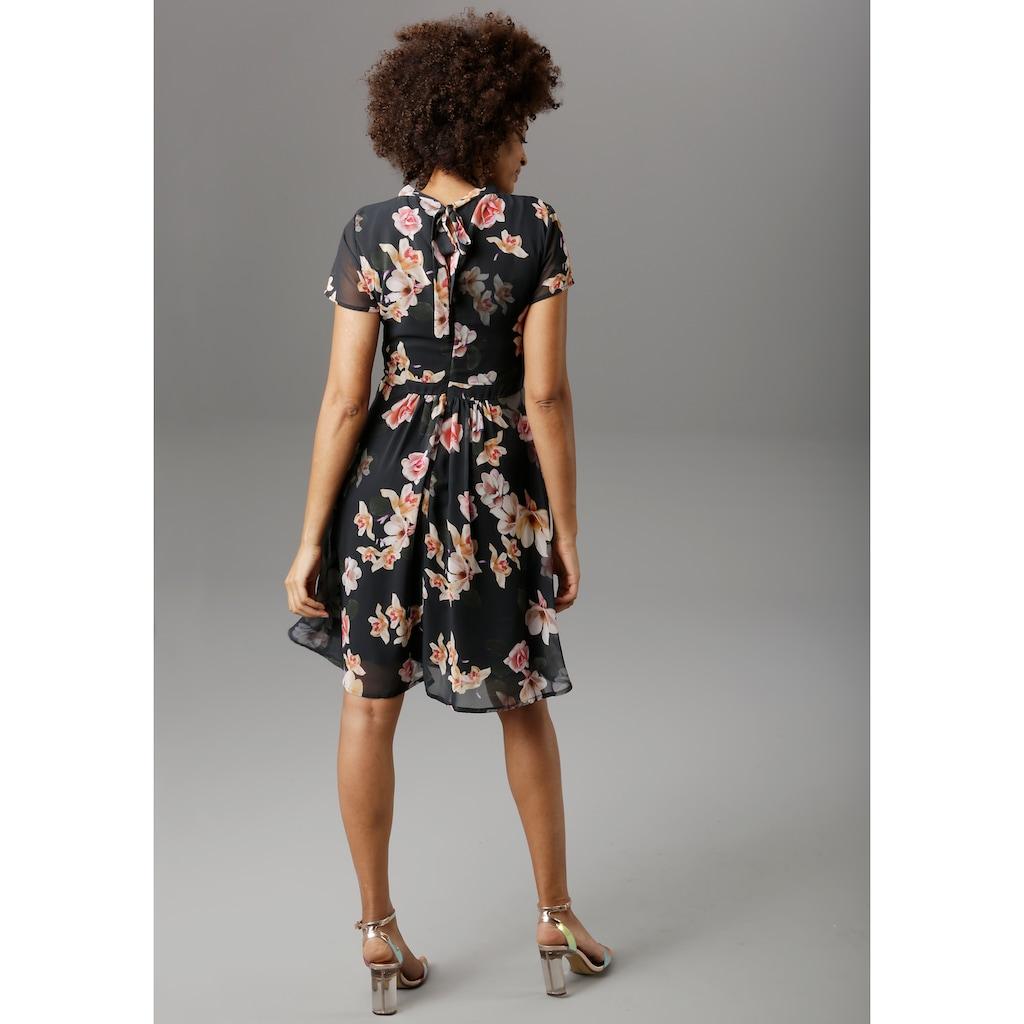 Aniston SELECTED Sommerkleid, mit eingelegten Falten - NEUE KOLLEKTION