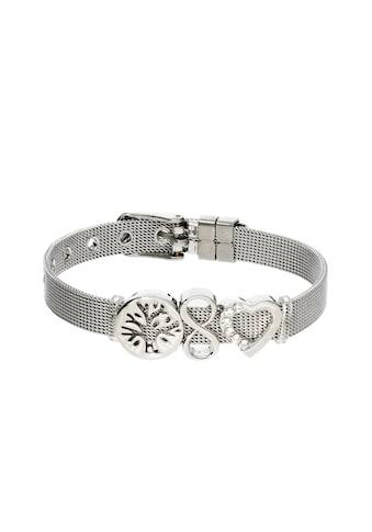Jacques Charrel Armband »Milanaise Armband mit Schiebe Elementen, Edelstahl und Messing« kaufen