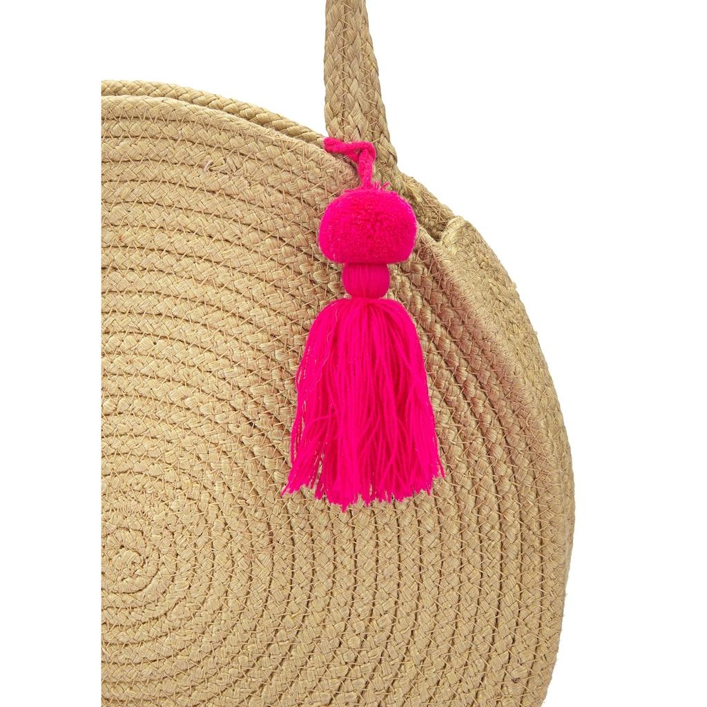 LASCANA Strandtasche, in runder Form aus Jute