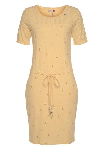 """Ragwear Jerseykleid »NUGGIE DRESS«, (2 tlg., mit Bindegürtel), im Sailor Look mit """"Anker""""- All-Over-Druck kaufen"""